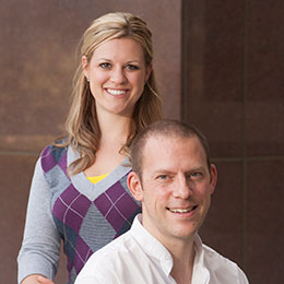 portrait: Keith Bradnam and Kristen Beck