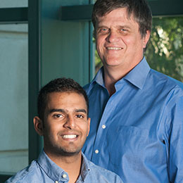 portrait: Andre Knoesen and Anuj Bhardwaj