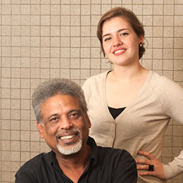 portrait: Sarah El-Jurf and Mani Tripathi